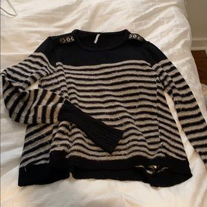 Free people size small stripped sweater
